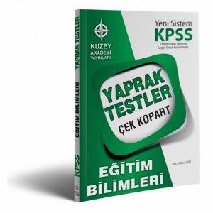 2017 KPSS Eğitim Bilimleri Çek Kopart Yaprak Test Kuzey Akademi Yayınları