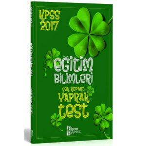 2017 KPSS Eğitim Bilimleri Çek Kopart Yaprak Test İsem Yayınları