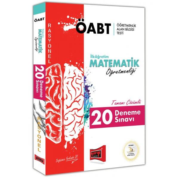 Yargı Yayınları 2019 ÖABT Rasyonel İlköğretim Matematik Öğretmenliği Tamamı Çözümlü 20 Deneme Sınavı