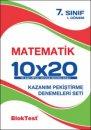 7. Sınıf Matematik 10x20 Deneme Blok Test Yayınları