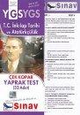 Sınav YGS T.C.İnkılap Tarihi ve Atatürkçülük Çek Kopar Yaprak Test 32 Adet