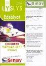 Sınav LYS Edebiyat Çek Kopar Yaprak Test 48 Adet