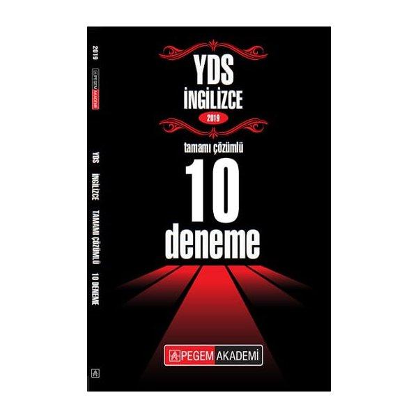 2019 YDS Tamamı Çözümlü 10 Deneme Pegem Yayınları