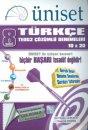 Üniset 8. Sınıf TEOG 2 Türkçe Çözümlü Denemeleri 10x20