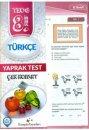 Kampüs Yayınları 8. Sınıf Türkçe Çek Kopar Yaprak Test