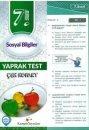 Kampüs Yayınları 7. Sınıf Sosyal Bilgiler Çek Kopar Yaprak Test