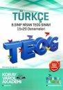 8. Sınıf TEOG 2 Türkçe 15x20 Deneme Koray Varol Akademi