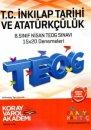 8. Sınıf TEOG 2 T.C. İnkılap Tarihi ve Atatürkçülük 15x20 Deneme Koray Varol Akademi