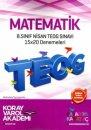 8. Sınıf TEOG 2 Matematik 15x20 Deneme Koray Varol Akademi