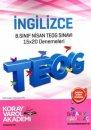 8. Sınıf TEOG 2 İngilizce 15x20 Deneme Koray Varol Akademi
