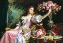 Anatolian Çiçekli Kadın Lady With Flowers 2000 Parça 3927