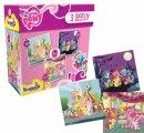 Kırkpabuç My Little Pony 3 Pony Puzzle 25-36-49 Parça 6805
