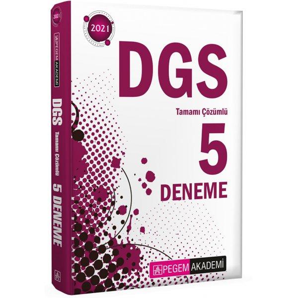 2021 DGS Tamamı Çözümlü 5 Deneme Pegem Yayınları