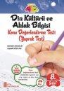 8. Sınıf  TEOG Din Kültürü ve Ahlak Bilgisi Yaprak Test Ata Yayıncılık