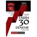 2018 KPSS Tarih 30 Deneme Pegem Yayınları