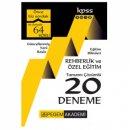 2018 KPSS Eğitim Bilimleri Rehberlik ve Özel Eğitim Tamamı Çözümlü 20 Deneme Pegem Yayınları