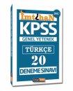 2017 İmtihan KPSS Türkçe 20 Deneme Sınavı Kariyer Meslek Yayınları