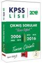 2018 KPSS Lise Tamamı Orijinal ve Çözümlü 2006-2016 Çıkmış Sorular Yargı Yayınları