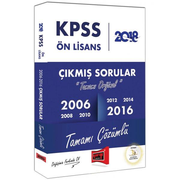 2018 KPSS Ön Lisans Tamamı Orijinal ve Çözümlü 2006-2016 Çıkmış Sorular Yargı Yayınları