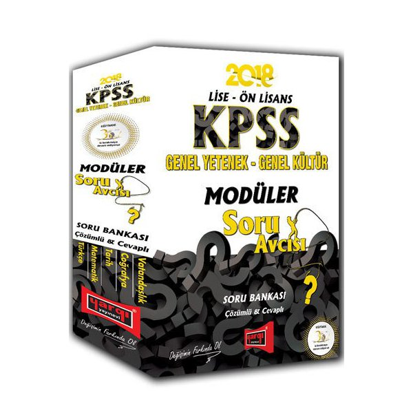 2018 KPSS Lise Ön Lisans Soru Avcısı GY-GK Modüler Soru Güncel Baskı Yargı Yayınları*