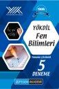 YÖKDİL Fen Bilimleri Tamamı Çözümlü 5 Deneme Pegem Yayınları