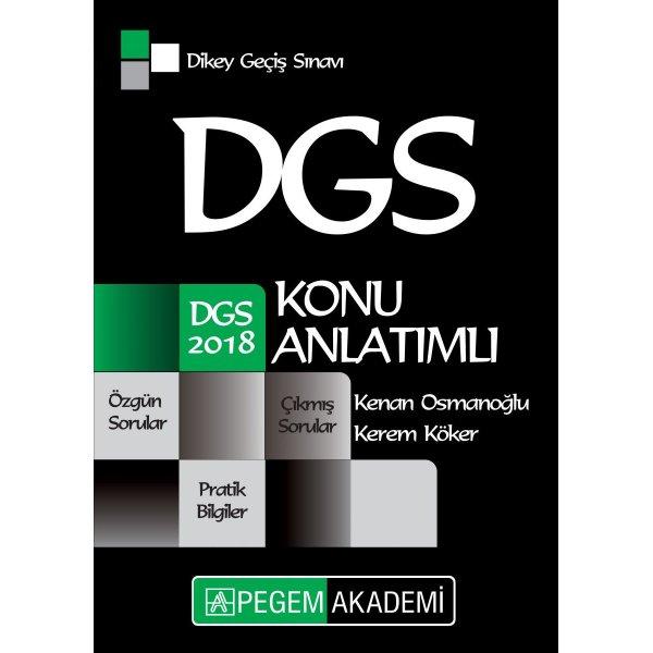 2018 DGS Konu Anlatımlı Kitap Pegem Yayınları