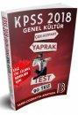 2018 KPSS Lise Önlisans Genel Kültür Çek Kopar Yaprak Test Benim Hocam Yayınları