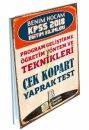 2018 KPSS Eğitim Bilimleri Program Geliştirme-Öğretim Yöntem ve Teknikleri Çek Kopart Yaprak Test Benim Hocam Yayınları