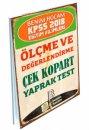 2018 KPSS Eğitim Bilimleri Ölçme ve Değerlendirme Çek Kopart Yaprak Test Benim Hocam Yayınları