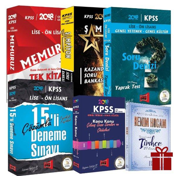 2018 KPSS Lise Önlisans Memuruz Full Set Benim Hocam Türkçe Deneme Hediyeli Yargı Yayınları