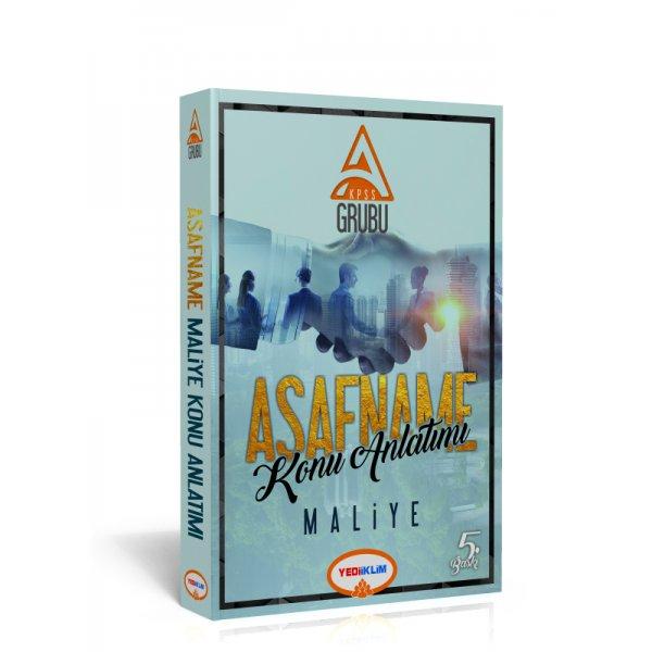 2018 KPSS A Grubu Asafname Maliye Konu Anlatımlı Kitap Yediiklim Yayınları