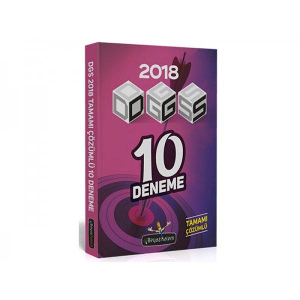 2018 DGS Tamamı Çözümlü 10 Deneme Beyaz Kalem Yayınları