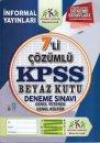 Genel Yetenek Genel Kültür KPSS'nin Beyaz Kutusu 7'li Çözümlü Deneme Sınavı İnformal Yayınları