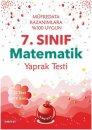 7. Sınıf Nar Test Matematik Yaprak Testi Nartest Yayınları