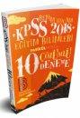 2018 KPSS Eğitim Bilimleri Tamamı Çözümlü 10 Deneme Benim Hocam Yayınları