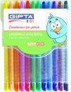 Gıpta Çevirmeli Mum Boya PVC Çantalı 12 Renk