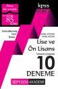 2018 KPSS Lise ve Önlisans Adayları İçin Tamamı Çözümlü 10 Deneme Pegem Yayınları