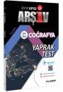 2018 KPSS Coğrafya Çek Kopar 64 Yaprak Test Video Destekli Filozof Yayıncılık