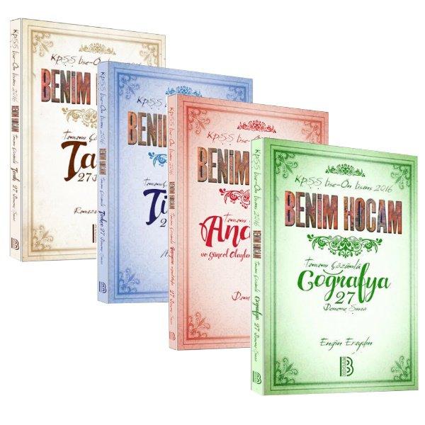Benim Hocam KPSS Lise Önlisans 4lü Deneme Seti Türkçe Tarih Coğrafya Anayasa