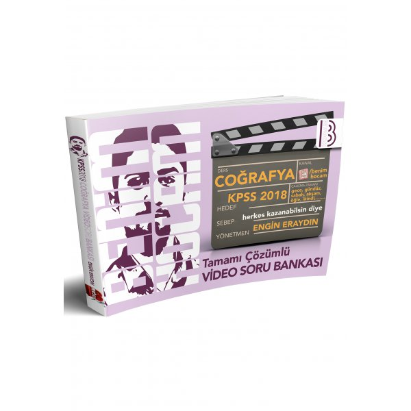 2018 KPSS Coğrafya Tamamı Çözümlü Video Soru Bankası Engin Eraydın Benim Hocam Yayınları