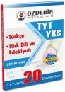 YKS 1.Oturum TYT Türkçe Türk Dili Edebiyatı Çek Kopar 20 Deneme Sınavı Özdebir Yayınları