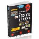 YKS Hazırlık Son 30 Yıl Türkçe Soruları ve Çözümleri Akıllı Adam Yayınları