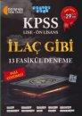 KPSS Lise Önlisans İlaç Gibi Full Çözümlü13 Fasikül Deneme Akıllı Adam Yayınları