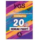 YGS Coğrafya 20 li Deneme Paketi Çıkmış Sorulardan Oluşturulmuş A Yayınları