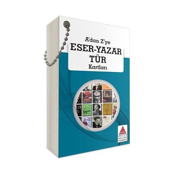 A dan Z ye Eser Yazar Tür Kartları Delta Kültür Yayınları
