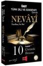 2019 ÖABT NEVAYİ Türk Dili ve Edebiyatı Öğretmenliği 10 Fasikül Çözümlü Deneme Yargı Yayınları