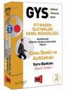 GYS Eti Maden İşletmeleri Genel Müdürlüğü Konu Özetli ve Açıklamalı Soru Bankası Yargı Yayınları