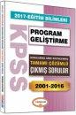 2017 KPSS Eğitim Bilimleri Program Geliştirme Konularına Göre Düzenlenmiş Tamamı Çözümlü Çıkmış Sorular Yediiklim Yayınları