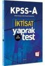 2018 KPSS A Grubu İktisat Çek Kopar Yaprak Test 657 Yayınları