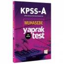 2018 KPSS A Grubu Muhasebe Çek Kopar Yaprak Test 657 Yayınları